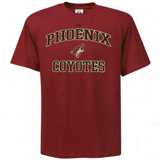 Phoenix Coyote Tee : Majestic Pyoenix Coyote Garnet Heart And Soul Ii Tee