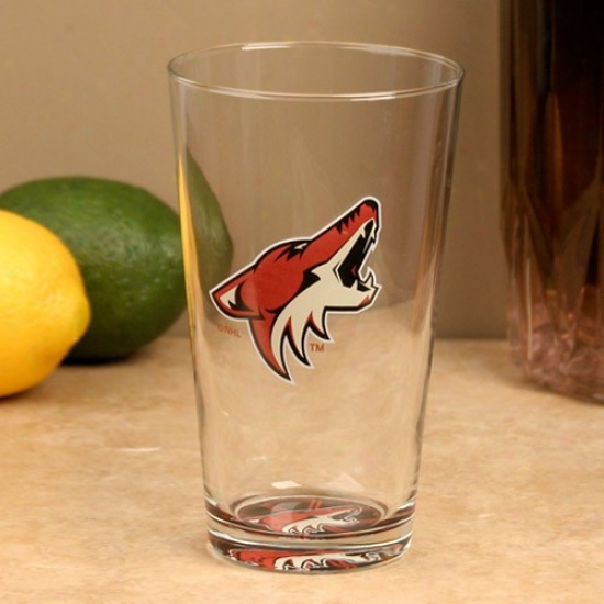 Phoenix Coyotes 17 Oz. Bottomq Up Mixing Glass