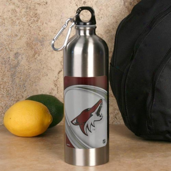 Phoenix Coyotes 750ml Stainless Steel Water Bottle W/ Carabiner Clip