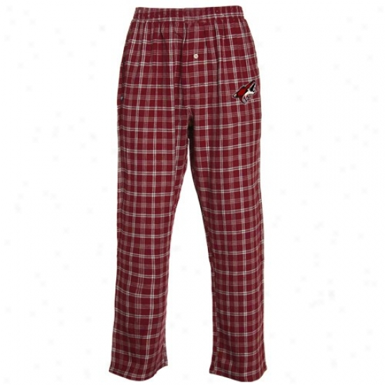 Phoenix Coyotes Brick Red Tailgate Pajama Pants