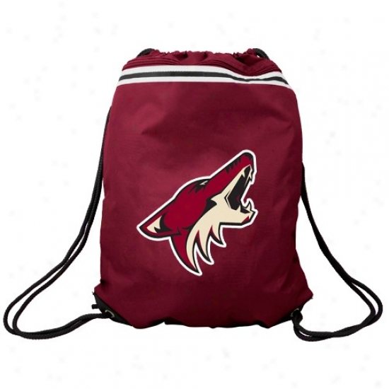 Phoenix C0yotes Brick Red Team Logo Drawstring Backpack