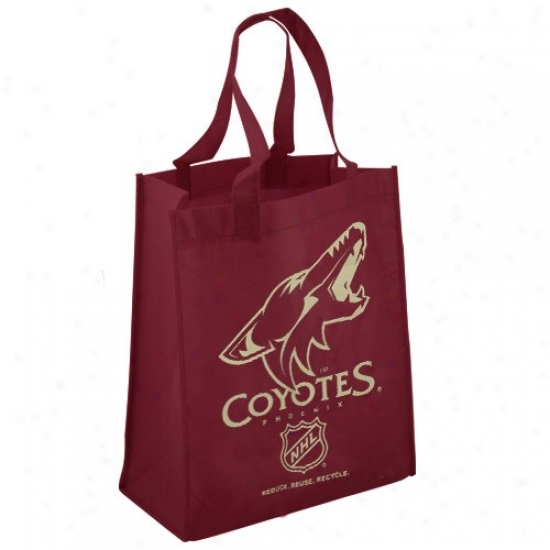 Phoenix Coyotes Maroon Reusable Tote Bag