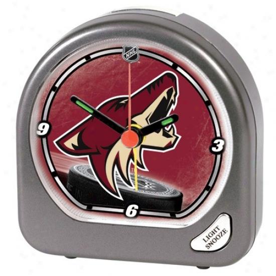 Phoenix Coyotes Plastic Alarm Clock
