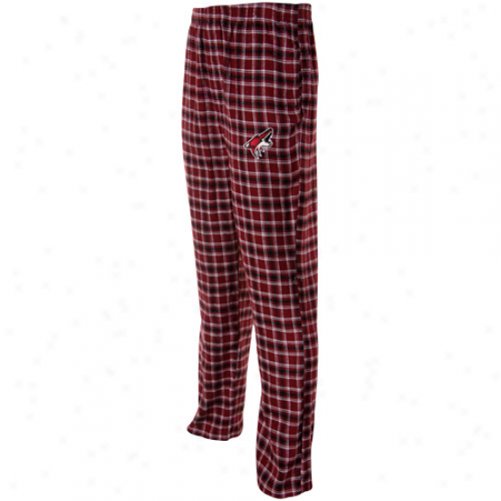 Phoenix Coyotes Red Plaid Match-up Pajama Pants