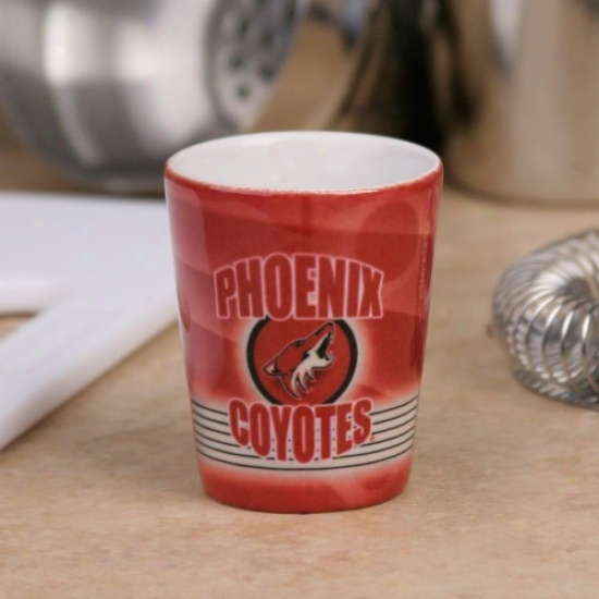 Phoenix Coyotes Red Slapshot Ceramic Shot Glass
