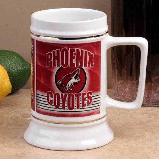 Phoenix Coyotes Slapshot 28oz. Ceramic Stein