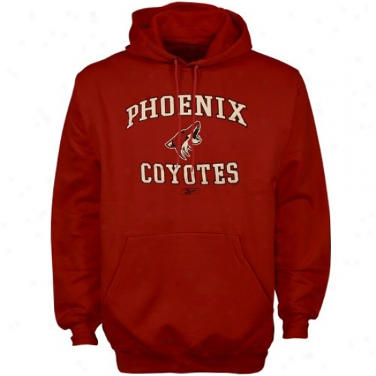Phoenix Coyotes Sweat Shirts : Reebok Phoenix Coyotes Garnet Primary Logo Sweat Shirts