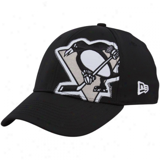 Pittsburgh Penguin Caps : New Era Pittsburgh Penguin Black Side Patch 39thirty Stretch Fit Caps