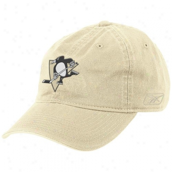 Pittsburgh Penguin Caps : Reebok Pittsburgh Penguin Gold Basic Logo Slouch Caps