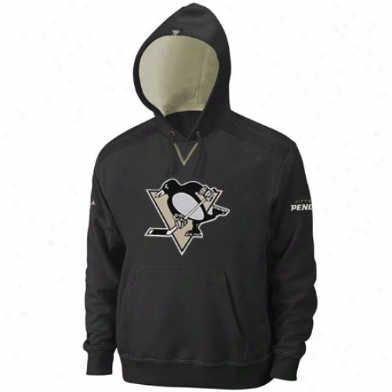 Pittsburgh Penguin Fleece : Majestic Pittsburgh Penguin Black Conquest Fleece