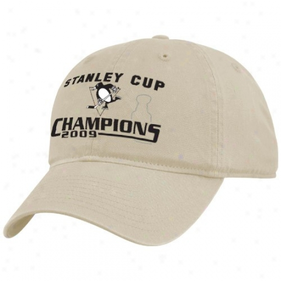 Pittsburgh Penguin Gear: Twins '47 Pittsbutgh Penguin 2009 Nhl Stanley Cup Champions Natural Adjustable Clownish gait Hat