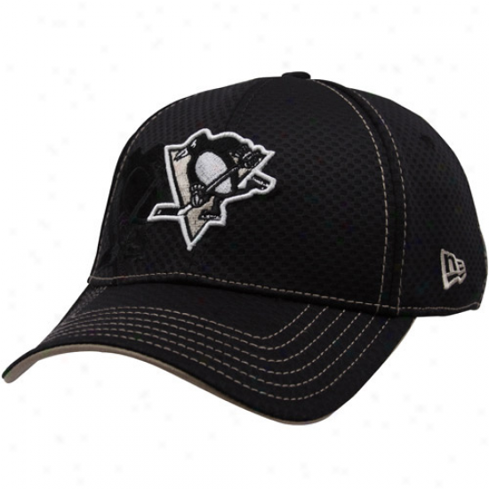 Pittsburgh Penguin Hats : New Era Pittsburgh Penguin Black 39thirty Stretch Fit Hats