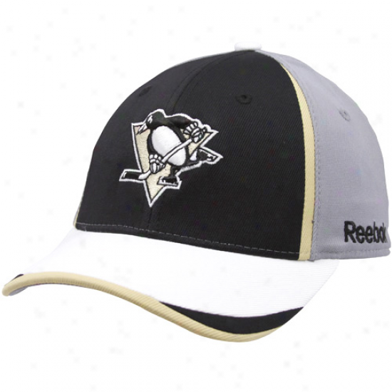 Pittsburgh Penguin Hats : Reevok Pittsburgh Penguin Youth Gray 2010 Draft Day Flex Fit Hats