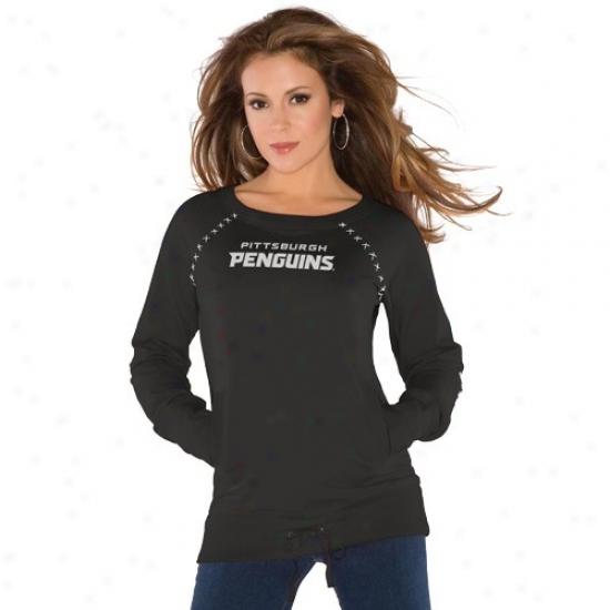 Pittsburgh Penguin T Shirt : Touch By Alyssa Milano Pittsburgh Penguin Black Organic Pullover Sweatshirt