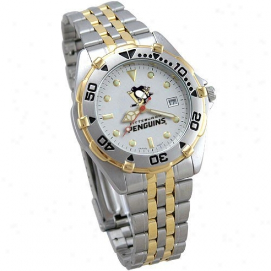 Pittsburgh Penguin Watches : Pittsburgh Penguin Men's All-star Watches W/stainless Steel Band