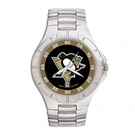 Pittsburgh Penguin Watches : Pittsburgh Penguin Men's Pro Ii Watches W/tainless Steel Band
