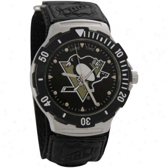 Pittsburgh Penguin Wrist Watch : Pittsburgh Penguin Agent V Wrist Watch