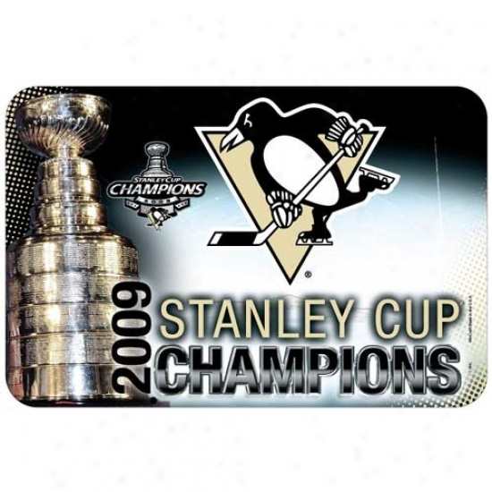 """pittsburgh Penguins 2009 Nhl Stanley Cup Champions 20"""" X 30"""" Mat"""
