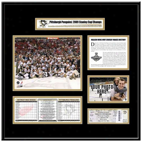 Pittsburgh Penguins 2009 Nhl Stanley Cup Champions Ticket Frame