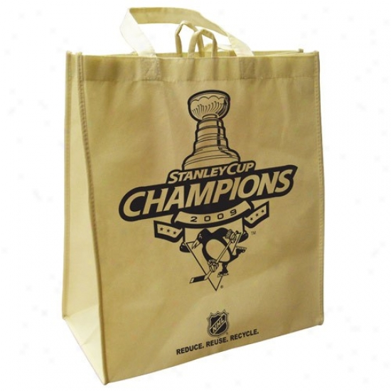 Pittsburgh Penguins 2009 Nhl Stanley Cup Champions Natural Reusabl3 Bag