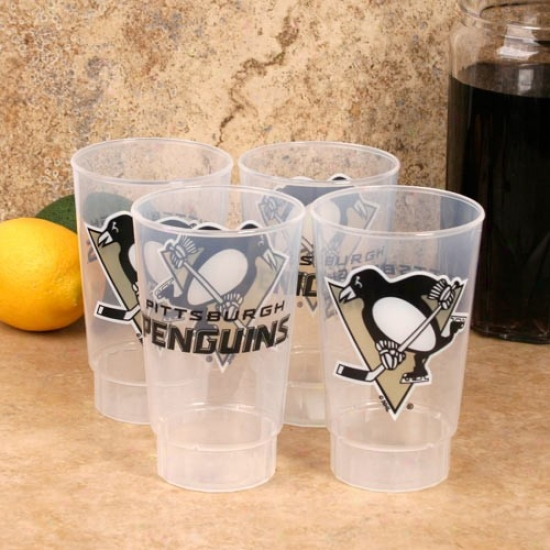 Pirtsburgh Penguins 4-pack 16oz. Plastic Cups