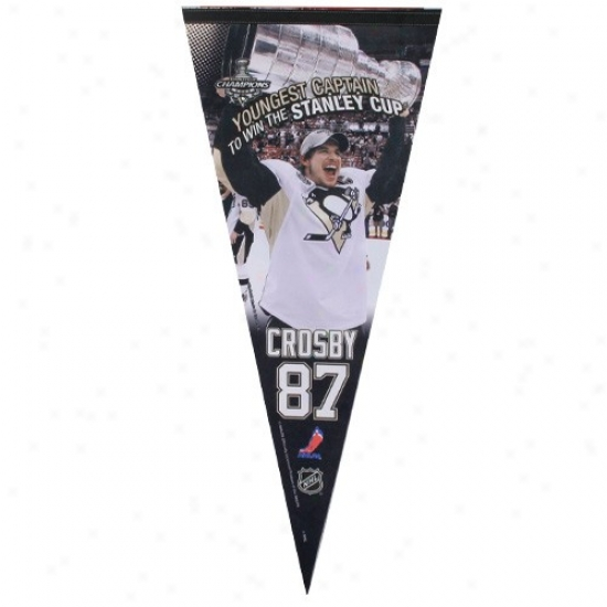 Pittsburgh Penguins #87 Sidney Crosby 17'' X 40'' Player Felt Pennant