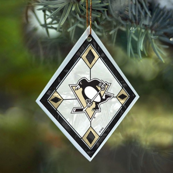 Pittsburgh Penguins Art-glass Ornament