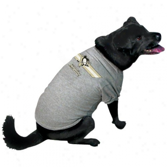 Pittsburgh Penguins Ash Logo Pet T-shirt