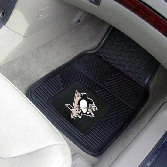 Pittsburgh Penguins Black 2-piece Vinyl Car Mat Plant