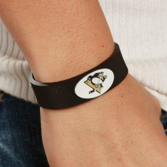 Pittsburgh Penguins Black Hockey Bracrlet