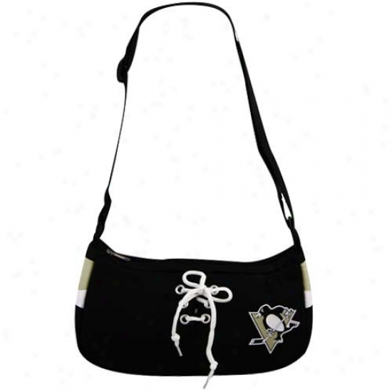 Pittsburgh Penguins Black Hockey Jersey Purse