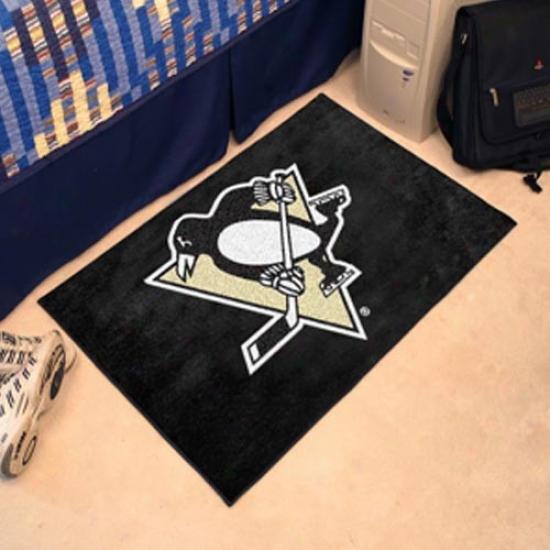 Pittsburgh Penguins Negro Logo Starter Mat