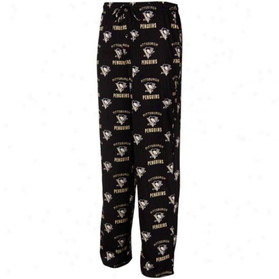 Pittsburgh Pennguins Black Maverick Pajama Pants