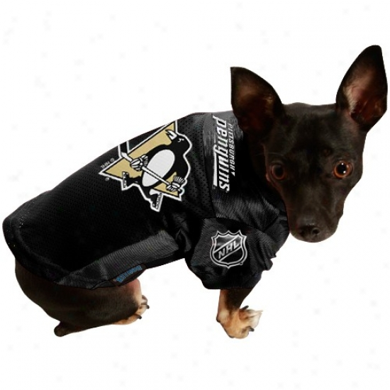Pittsburgh Penguins Black Mesh Pet Jersey