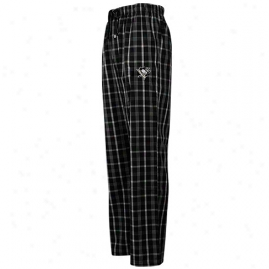 Pittsburgh Penguins Black Plaid Genuine Pajama Pants