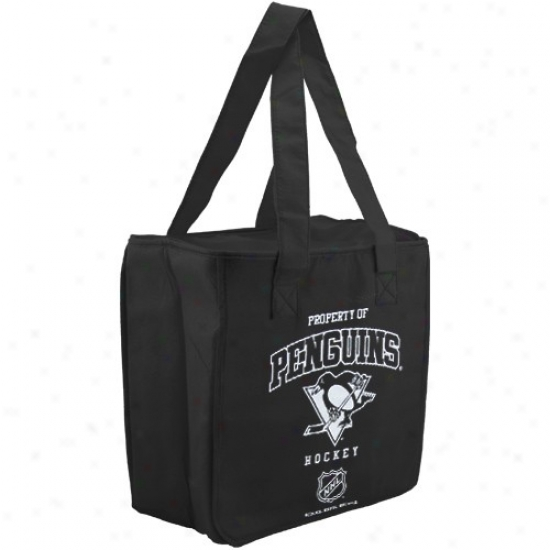 Pittsburgh Penguins Black Reusale Insulated Tote Bag