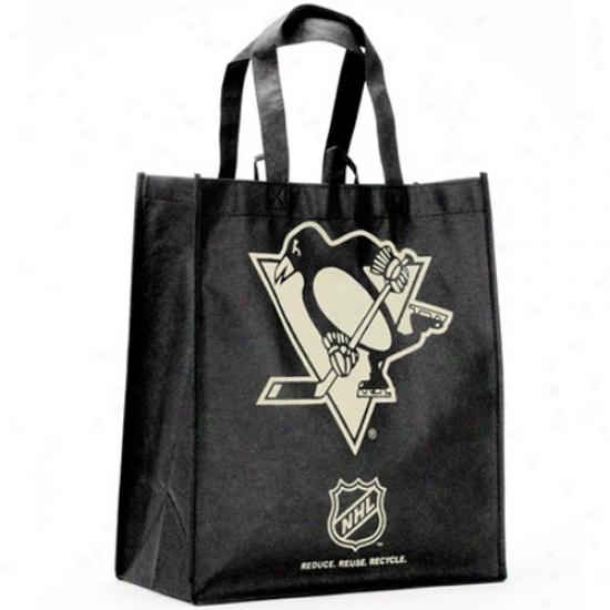 Pittsburgh Penguins Black Reusable Tote Bag