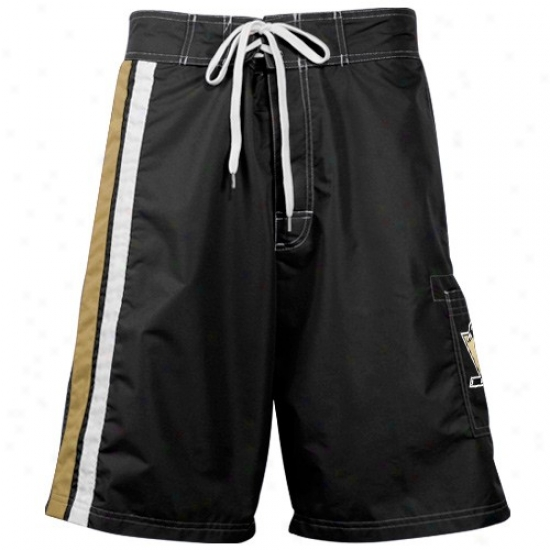 Pittsburgh Penguins Black Team Logo Board Shorts