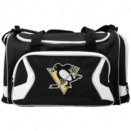 Pittsburgh Penguins Black Team Logo Duffle Bag