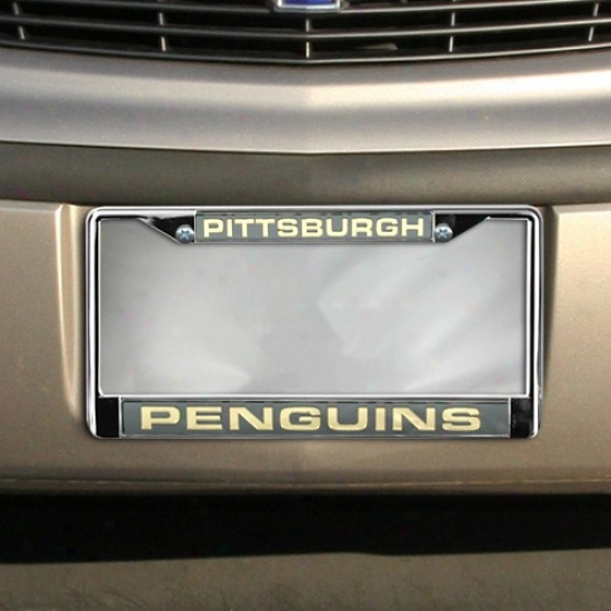 Pittsburgh Penguins Chrome License Plate Frame