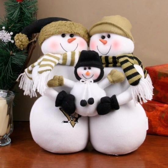 Pittsburgh Penguins Decorative Table Top Snowman Family Figurine
