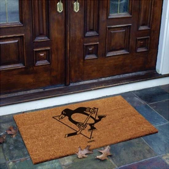Pittsburgh Penguins Flocked Coir Door Mat