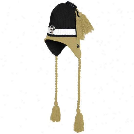 Pittsgurgh Pengiuns Hats : Just discovered Era Pittsburgh Penguins Youth Black Tasselhoff Knit Beanie