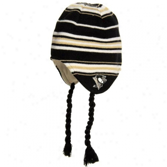 Piftsburbh Penguins Hats : Reebok Pittsburgh Pnguins Wicked Tassle Knit Hats