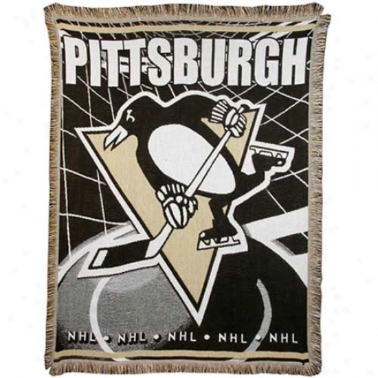Pittsburgh Penguins Jacquard Woven Blanket Throw