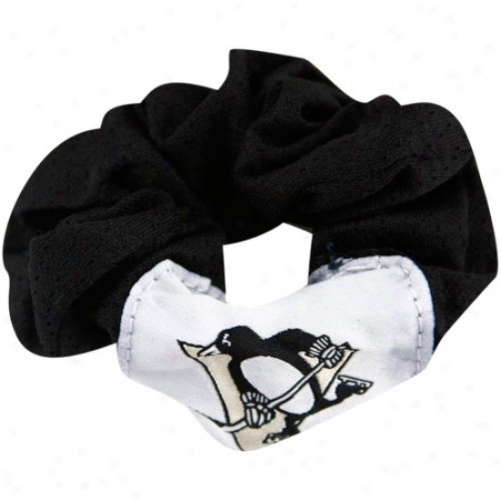 Pittsburgh Penguins Ladies Black Hair Twist