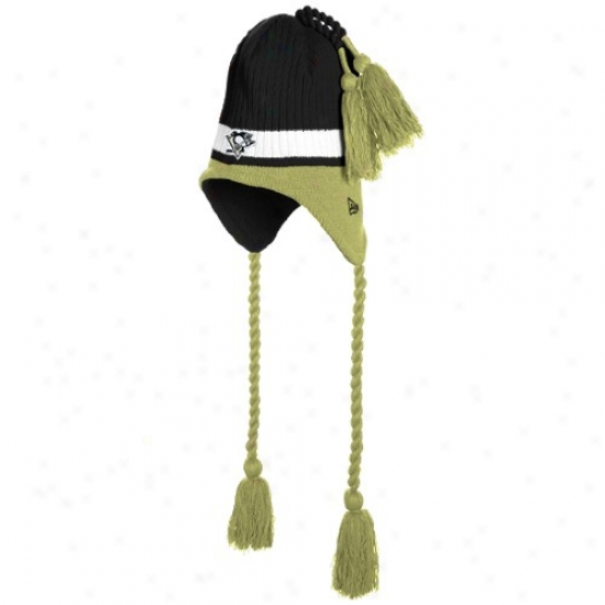 Pittsburgh Penguins Merchandise: New Era Pittsburgh Penguins Black Tasselhoff Knit Beanie