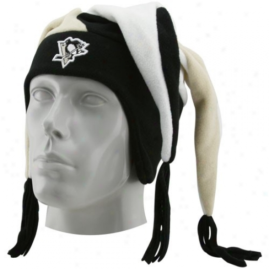 Pittsburgh Penguins Merchandise: New Era Pittsburgh Penguins Youth Black Snow Plow Knit Cap