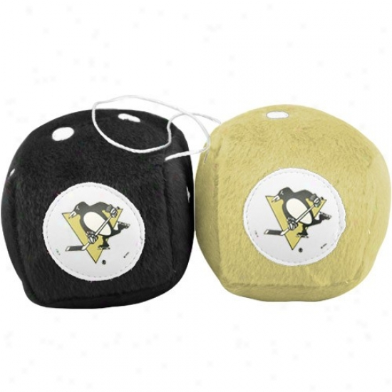 Pittsburgh Penguins Plush Team Fuzzy Dice