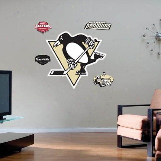 Pittsburgh Penguins Team Logo Fathead Wall Sticker